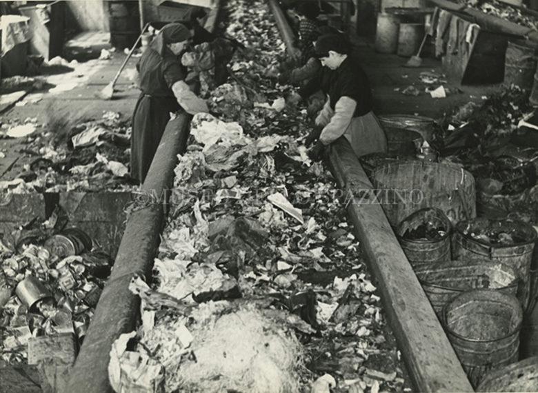 L'impianto di cernita dei rifiuti